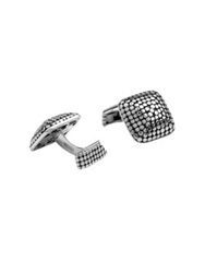 John Hardy Dot Square Cuff Links Silver