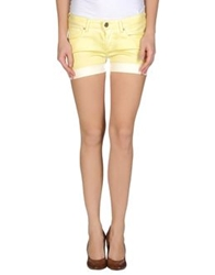 Take Two Denim Shorts Light Yellow