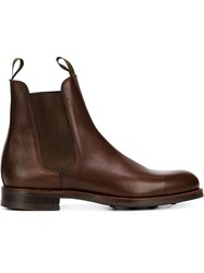 Bow Tie 'Johnson' Chelsea Boots Brown