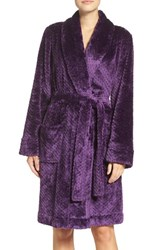 Nordstrom Women's Lingerie 'Snowball' Powder Plush Robe Purple Crown