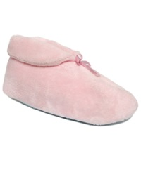 Muk Luks Chenille Boot Slippers Women's Shoes Satin Pink