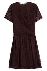Carven Dentelle Lace Dress Red