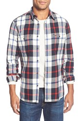 Wallin Bros. Trim Fit Flannel Shirt Black Red Tartan