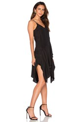Lover Silk V Mini Dress Black