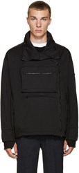 Stone Island Shadow Project Black Pocket Zip Up Sweater