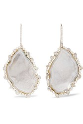 Kimberly Mcdonald 18 Karat White Gold Multi Stone Earrings