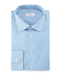 Eton Contemporary Fit Bengal Striped Dress Shirt Blue