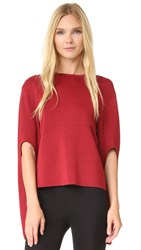Dion Lee Circle Cut Knit Sweater Wine