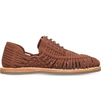 Kg By Kurt Geiger Saxa Woven Leather Sandals Tan