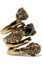Gucci Gold Plated Swarovski Crystal Ring