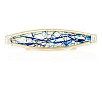 Monique Pean Women's White Diamond And Siberian Azurite Ring No Color