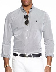 Polo Ralph Lauren Hairline Striped Poplin Shirt Black White