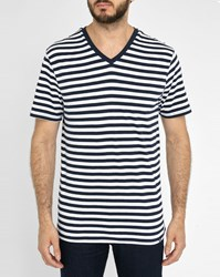 Roscoe White And Navy Thomas Striped T Shirt Multicolour