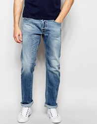 Diesel Jeans Waykee 842H Loose Straight Fit Stretch Light Wash Blue