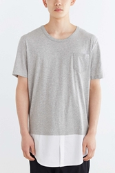 Shades Of Grey By Micah Cohen Shirttail Hem Tee