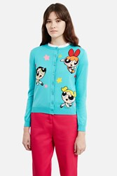 Moschino Couture Powerpuff Girls Cardigan Light Blue