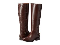 Frye Jordan Strappy Tall Dark Brown Smooth Veg Calf Women's Boots