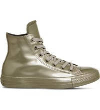 Converse Chuck Taylor All Star High Top Water Repellent Trainers Gold Mono Rubber