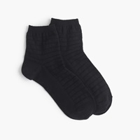 J.Crew Invisible Striped Ankle Socks Black