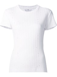Won Hundred Ribbed Round Neck T Shirt White