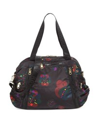 Cynthia Rowley Alex Printed Nylon Duffle Bag Black