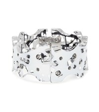 Christopher Kane Crystal Embellished Transparent Bracelet White