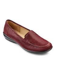 Hotter Jazz Lightweight Slip On Loafers Burgundy