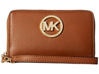 Michael Michael Kors Fulton Large Flat Multi Funt Phone Case Luggage Cell Phone Case Brown
