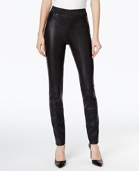 Inc International Concepts Faux Leather Skinny Pants Only At Macy's Deep Black