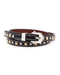 Studded Leather Buckle Wrap Bracelet Black Givenchy