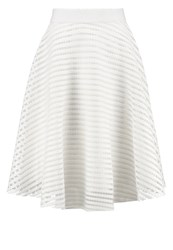 New Look Petite Aline Skirt Cream Off White