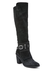 Fergie Dune Suede Knee High Boots Black