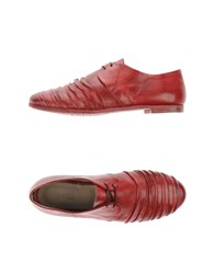 Preventi Footwear Lace Up Shoes Women Brick Red