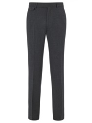 Chester By Chester Barrie Flannel Wool Suit Trousers Charcoal