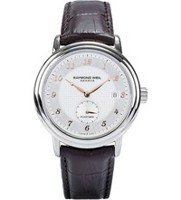 Raymond Weil Maestro Stainless Steel And Leather Watch