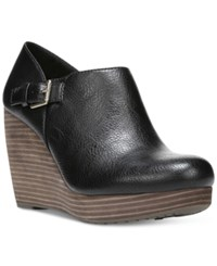 Dr. Scholl's Honor Platform Wedge Booties Women's Shoes Black