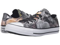 Converse Chuck Taylor All Star Digital Floral Print Ox Black White White Women's Lace Up Casual Shoes