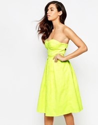Lashes Of London Rainbow Drop Midi Prom Dress Neon Lime