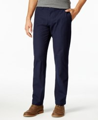 Tommy Hilfiger Men's Tailored Fit Mercer Micro Grid Pants Navy Blaze