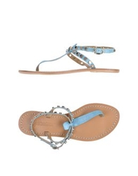 Fifth Avenue Shoe Repair Thong Sandals Turquoise
