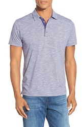 Robert Barakett Men's 'Byron' Stripe Polo Tyrian Purple