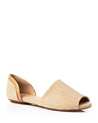 Splendid Open Toe Flat Sandals Akron Raffia Two Piece Natural Rattan