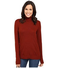 Pendleton Timeless Turtleneck Rosewood Heather Women's Clothing Red