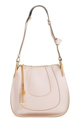 Chloe 'Small Hayley' Leather Hobo Bag White Abstract White