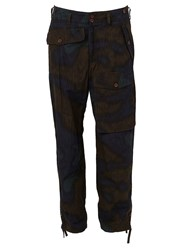 Kolor Printed Cargo Trousers Brown