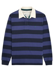 Joules Onside Stripe Rugby Shirt French Navy