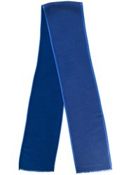 Hackett Contrast Trim Scarf Blue