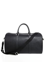 Jack Spade Barrow Saffiano Leather Duffle Bag Black