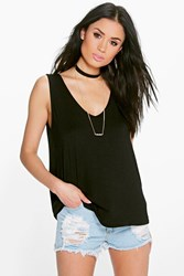 Boohoo V Front And Back Vest Black