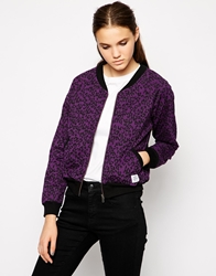 A Question Of Organic Leo Bomber Jacket Purple